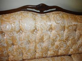 Beautiful Silk Brocade Tufted