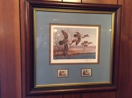 Framed 1990 Louisiana Duck -- Elton Louviere GCCA 9/11