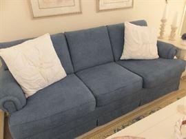 """Carlton"" brushed denim sofa from Hudson Furniture Co."