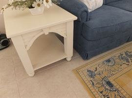 Cottage style side table; one of a pair