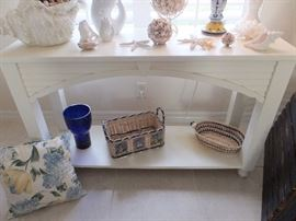Cottage style entry table (one of a pair).