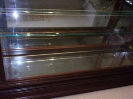 Gorgeous large lighted curio display cabinet