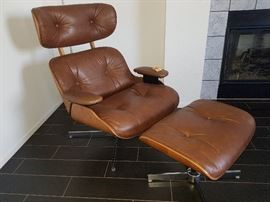 Vintage Eames style chair and ottoman by Charlton Company!