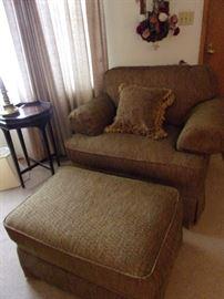 La-z-boy chair and ottoman