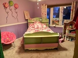 full bed frame & comforter set
