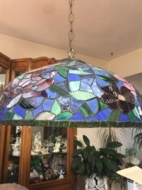 Hand made stained glass light by Long Island Stained Glass Artist