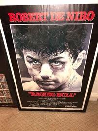 Jake La Motta signed Raging Bull Movie Poster