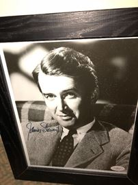 Jimmy Stewart signed pic