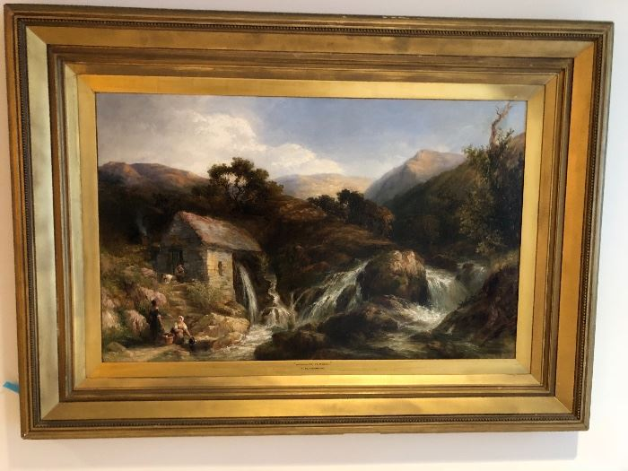"Frederick Henshaw 25"" x 38"" beautiful original oil painting"