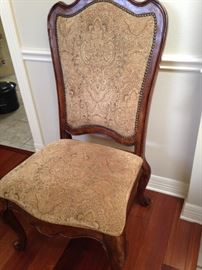 One of the dining chairs