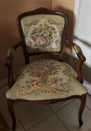 Embroidered Armchair.