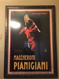 "4. Maccheroni Pianigiani Black Framed Movie Poster (42"" x 60"")"