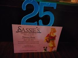 25 Years Sassies Estate Sales..!!