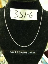 14kt Gold Chain Necklace