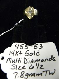 14kt Gold w/Multi Diamonds