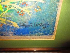 Signature of Robert Laessig Painting