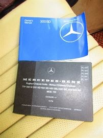 Manuals of 1980 Mercedes Benz 300 SD Turbo Diesel