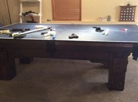 Pool table with ping pong conversion top
