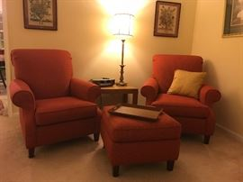 Red Matching Chairs