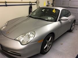 2002 Silver Porsche Carrera 2 Door Sedan