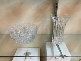 Shannon Crystal bowl, waterford marquis vase