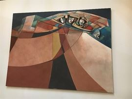 "David Johns ""Trio in Mesa"" Acrylic Painting"