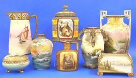 Nippon, humidor, jug, vase and pitcher
