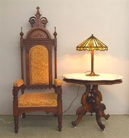 Victorian, Bradley & Hubbard lamp