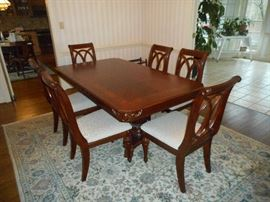 Dining Room Table & 6 Chairs (Rug not for sale)