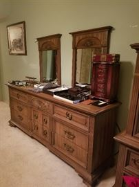 Dual mirrored dresser