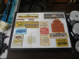 OLD LABELS AND ADVERTISING