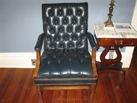 leather type chair