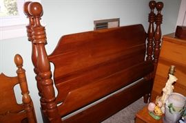 "Lillian Russell cannonball bed-has matching dresser and ""chester"" drawers"