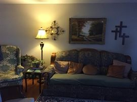Sofa / Side Tables / lamps