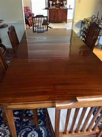 Fully extended dining room table