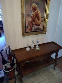 Artist nude painting of Linda Evans
