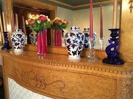 Cut to cobalt vases