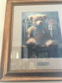 Thomas Kinkaid signed Teddy print