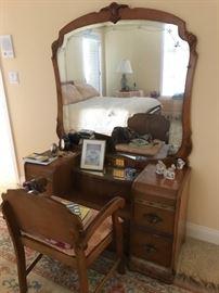 Vanity & chair