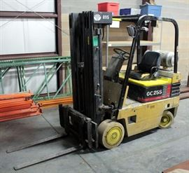 Daewoo GC25S Propane Forklift, 2.5 Tons (5000 Lb) Capacity, 60 HP, Side Shift Hydraulics Leak