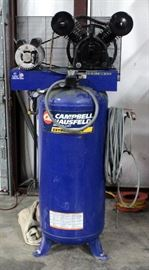 "Campbell Hausfeld Extreme Duty Model DPS561000AJ 60 Gallon Vertical Air Compressor, SN# L5/1/08-00300, 71""H"