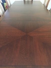 Detail dining room table top
