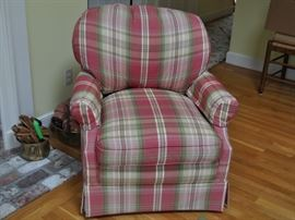 Upholstered chairs. Comfy, rocker.