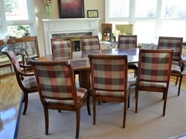 Henredon dining table and chairs (sold separately) one chair as found. table top not perfect. Priced accordingly