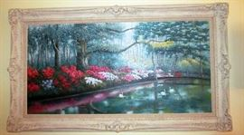 Large Framed Oil Painting