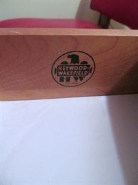 Heywood Marking in each piece of Furniture