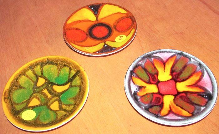 Three small Poole Plates
