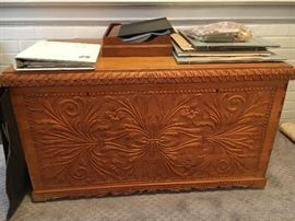 Beautiful hand carved chest