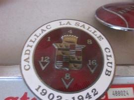 Cadillac license plate emblem