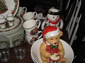 "Christopher Radke ""Holiday Celebrations"" china set with many Radke extras."